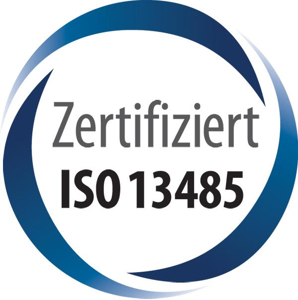 Wir sind ISO 13485 zertifiziert